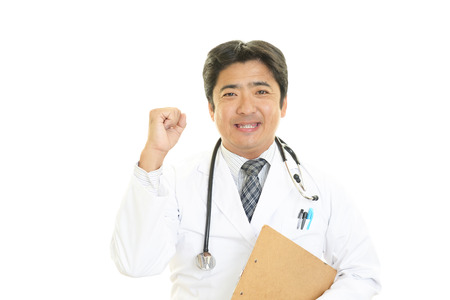 asian medical: Smiling Asian medical doctor Stock Photo