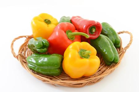 tiendas de comida: Paprika fresca y pimienta verde