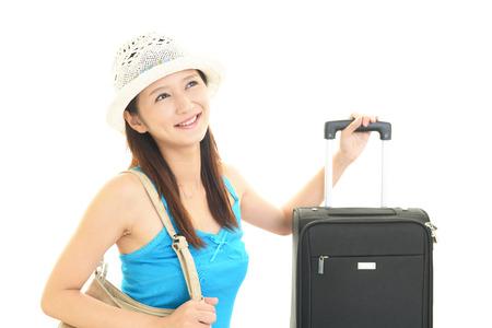 Women who enjoys the trip photo