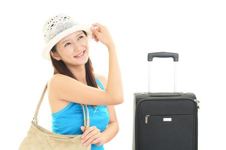 enjoys: Women who enjoys the trip