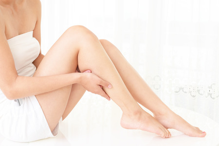 leg massage: The woman who does skin care