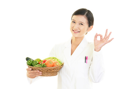 nutritionist: A smiling nutritionist