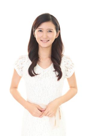 若い女性の笑顔 写真素材