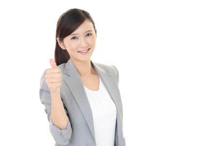 enjoys: The woman enjoys working
