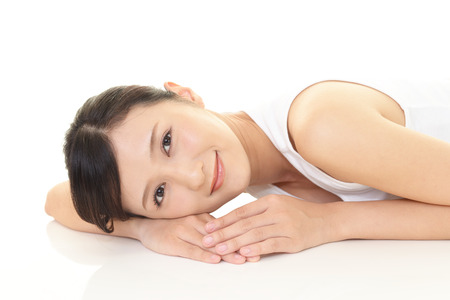 asian natural: Relaxed beautiful young woman.