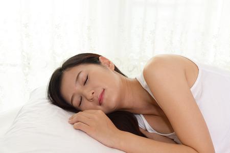 sleeping woman: Woman is sleeping