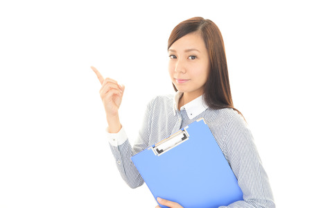 featured: Business woman pointing with her finger