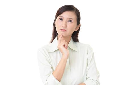 Frau mit einem unbehaglichen Blick Lizenzfreie Bilder