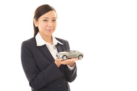car retailer: Smiling business woman