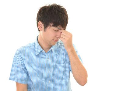 distress: Man having a headache