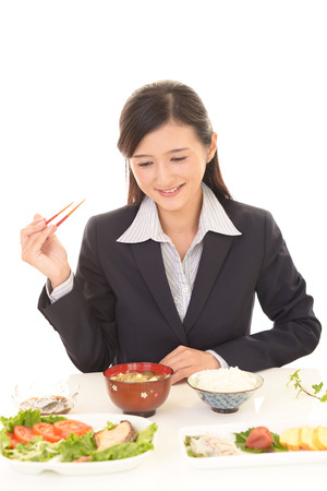 enjoys: Woman who enjoys Japanese food