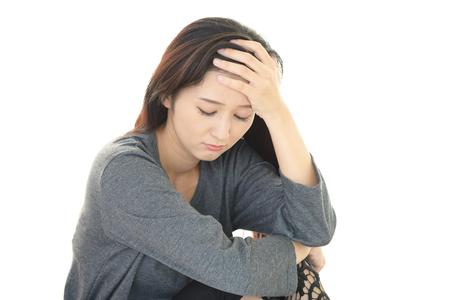 Müde Frau  Standard-Bild