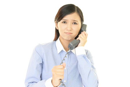 woman at the phone: Woman with a phone