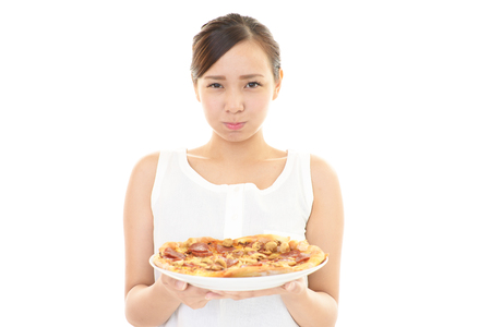 no food: Woman on a diet