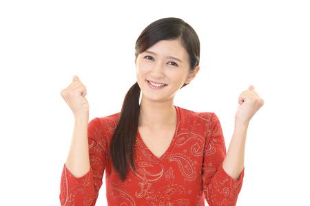 gratification: Happy woman