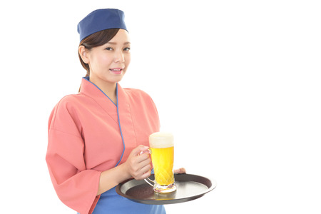 dinner wear: A Japanese restaurant waitress