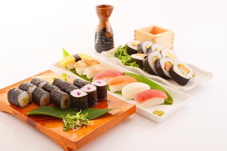 Japanese cuisine Sushi with sake