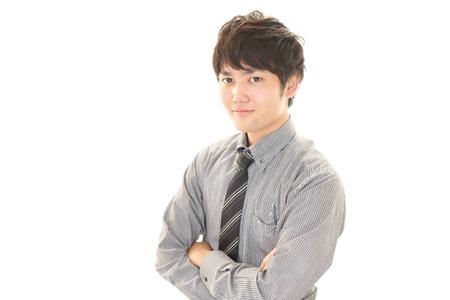 liveliness: Portrait of an Asian businessman