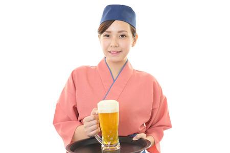 dinner wear: A Japanese restaurant waitress