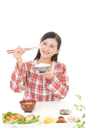 enjoys: Woman who enjoys food