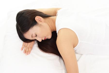 mujer elegante: La mujer est� durmiendo Foto de archivo