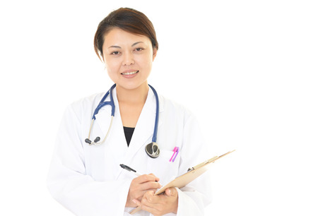 doctor care: Portrait of a female doctor