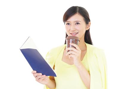 coffee time: Woman who enjoy a coffee time Stock Photo