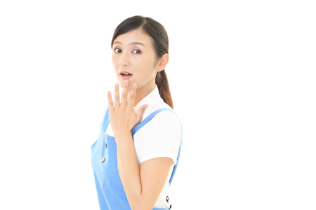 anxious face: Surprised Asian woman