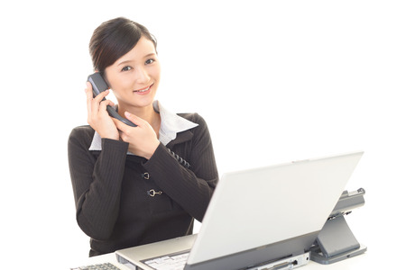 woman on phone: Business woman with a phone