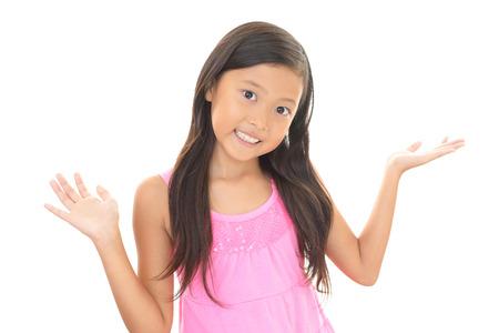 schoolroom: Happy Asian girl smile Stock Photo
