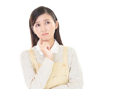 우울 아시아 여자.
