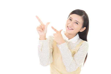Lächelnd Hausfrau