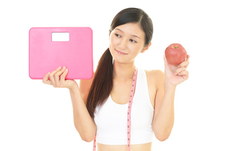 successful woman: Successful woman on diet Stock Photo