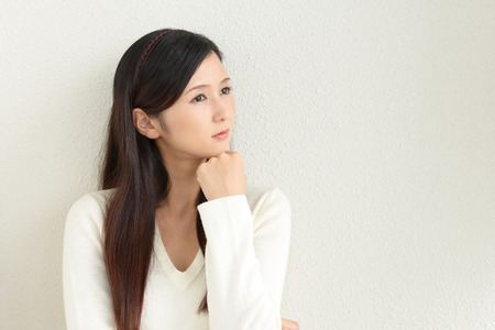 neurosis: Woman in depression Stock Photo