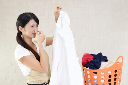 soiled: Stressed Asian housewife