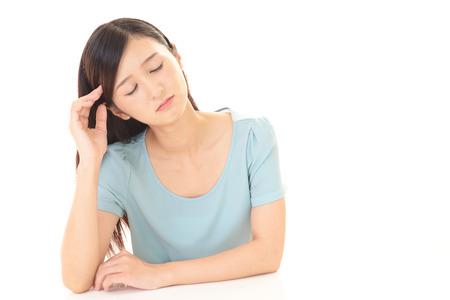 Frau in Depressionen Standard-Bild