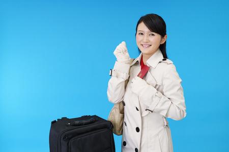 enjoys: Woman who enjoys the trip