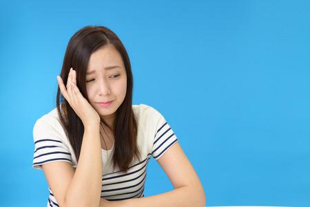 mental illness: Woman in depression Stock Photo