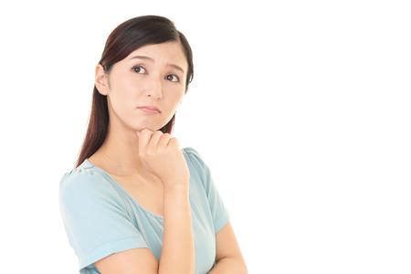 걱정되는 여자