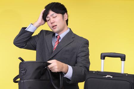 forgot: Man who forgot something Stock Photo
