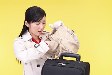 forgot: Woman who forgot something Stock Photo