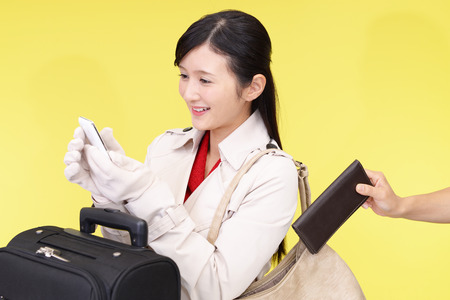 snatch: Woman to be stolen wallet Stock Photo