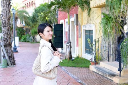shoulder bag: Woman with a shoulder bag
