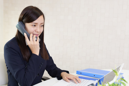 woman at the phone: Business woman with a phone