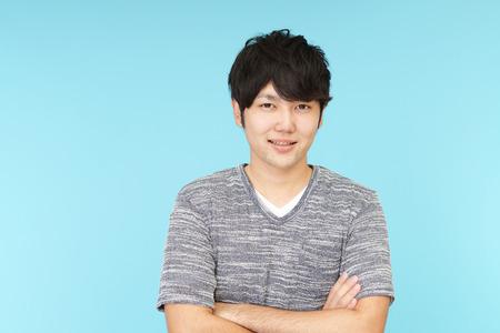 asian style: Smiling Asian man