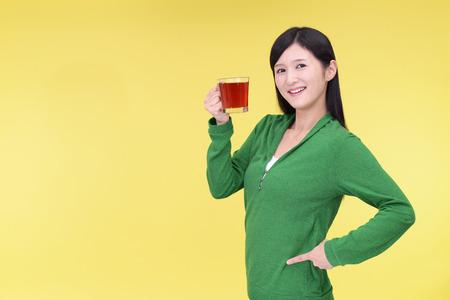 tea break: Woman who enjoys the tea break