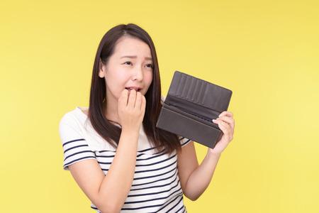 Teleurgesteld Aziatische vrouw Stockfoto