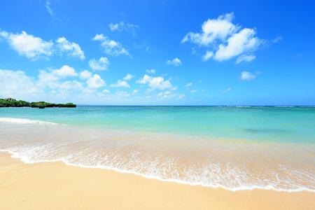 Belle plage à Okinawa Banque d'images - 50056923