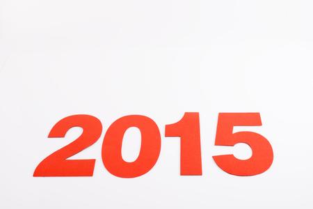 0 1 year: 2015 on white background