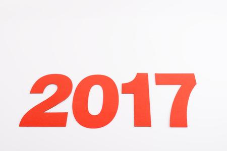 0 1 year: 2017 on white background
